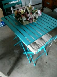blue and white wooden bench Miami, 33196