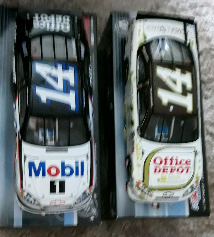 Photo Two Tony Stewart discast cars