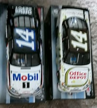 Two Tony Stewart discast cars