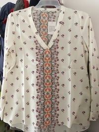 NEW 100% Silk Shirt (M) MARKHAM