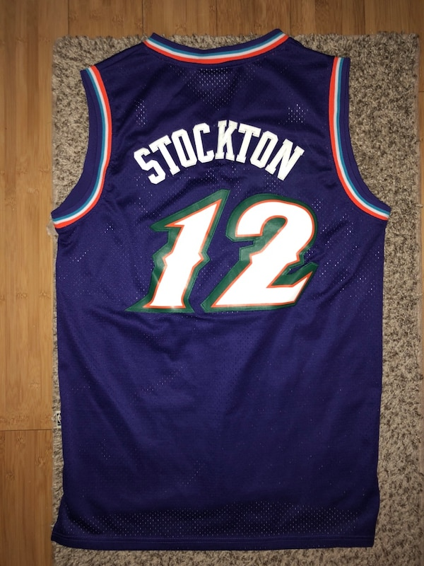 d65ecec99 Used John Stockton Utah Jazz Throwback Size L for sale in ...
