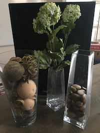 3 Vases and Contents
