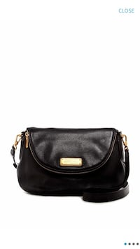 Marc jacob - natasha leather crossbody bag in black