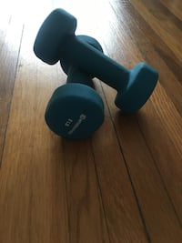 black and blue dumbbells with stand 512 km