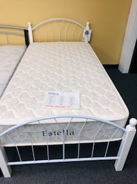 Twin metal bed. Brand new. Mattress is not included.  Mesquite, 75150