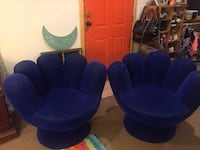 Two blue fabric hand chairs Pelahatchie, 39145