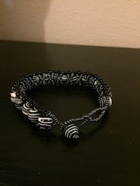 silver and black beaded bracelet Toronto