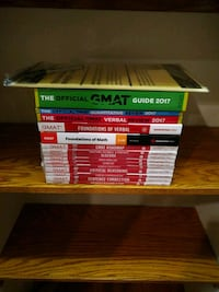 GMAT Manhattan Prep and Official Review books