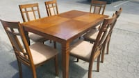 Wood Dining Set. Table with 6 Chairs. Sturdy!!! San Antonio, 78240