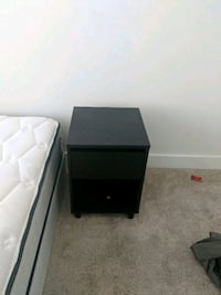 black wooden 2-drawer nightstand Nashville, 37206