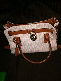 white and brown Michael Kors leather tote bag Butler County, 45011
