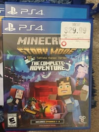 Minecraft Story Mode PS4 game case Midlothian, 23112