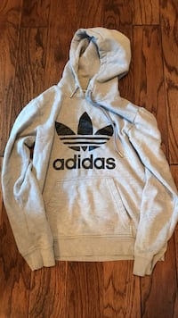 white and black Adidas pullover hoodie Langley, V3A 4K2