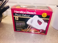 Brand new in box Hamilton Beach deluxe power mixer. $40 on Amazon!