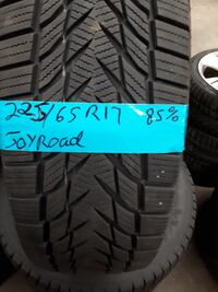 Set of 4 snow tires 225/65/17  JOYROAD WITH RIMS