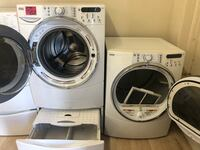Washer and gas dryer set with or without pedestal  Los Ángeles, 91352
