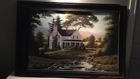 black wooden framed white and brown house painting Ingersoll, N5C