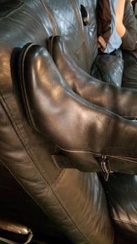 boots black leather, size 7.5 Toronto, M6H 3A1
