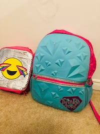 Bag pack and lunch bag