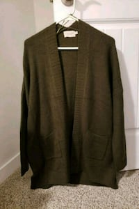 Olive Green Open Cardigan 3724 km