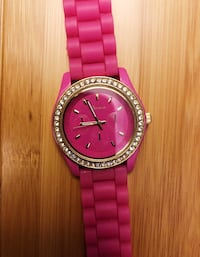 PINK WATCH WITH GOLD DETAILS & RHINESTONES ~ like new!  Gaithersburg, 20878