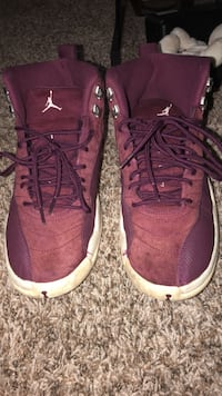 pair of purple Air Jordan 12's Silver Spring, 20906