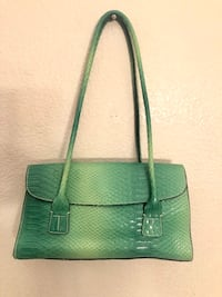 Vintage Tommy Hilfiger teal/turquoise Bag w/ matching coin purse.