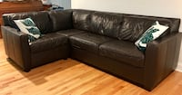 West Elm Henry 3-piece leather sectional sofa Wrightsville Beach, 28480