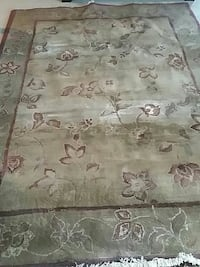 green and grey floral fringe area rug New Tecumseth, L0G 1W0