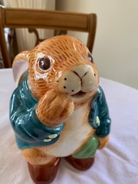 1983 Peter Rabbit Beatrix Potter Cookie Jar by Sigma Markham, L3T 3L5