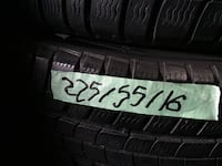set of 4 tires and rims winter tires and good condition size tires 225/60/16 558 km