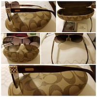 brown and beige Coach monogram tote bag collage 1216 mi