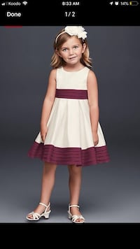 Girl size 7 and size 4 flower girl dresses Waterloo