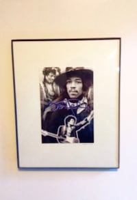 Jimi Hendrix Signed Concert Photo Collage Limited Edition London