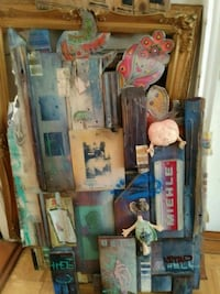 Handmade Large Wooden Collage