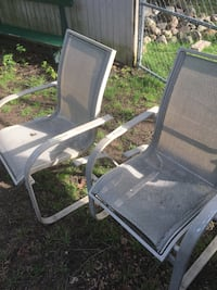 Gray metal framed patio chair Otsego, 49078