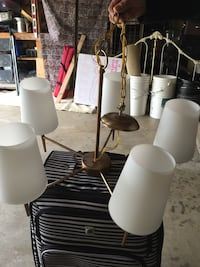 two white and black table lamps Richmond, 94803