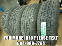 im selling four 215/65R15 all season ALTIMAX tires  Port Coquitlam