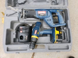 Ryobi 18v tool set with case