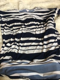 white and black striped scoop-neck shirt Vallejo, 94591