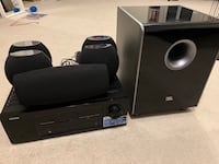 Denon amplifier and JBL home speakers set Chantilly, 20151