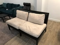 Suede and Leather Sofa Vineyard, 84058