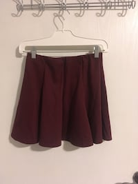 Revamped by Sirens Cranberry High-Wasted Skirt with Elastic Waistband London, N6G 4X6