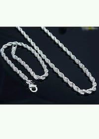 Necklace chain and hand chain set brand new 925 st Sacramento, 95817