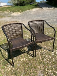 Brown Metal Patio Chairs