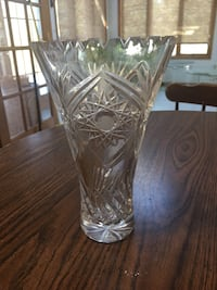 Triangle Crystal Vase 8.5""