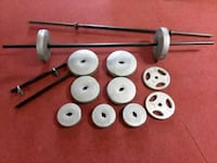 Dumbbell and plastic plates 115 lbs Morristown, 37814