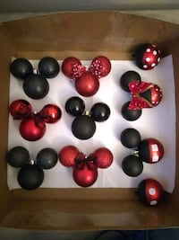 Hand Crafted Mickey&Minnie Ornaments
