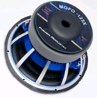 """Power Acoustik mofos 2ohm 12"""" woofers (box not included)"""