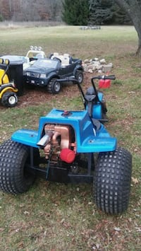 blue and black ATV ride-on toy Kent City, 49330
